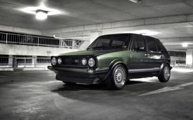 Картинка стоянка, auto, cars, Classic, Volkswagen, фото, вид с переди