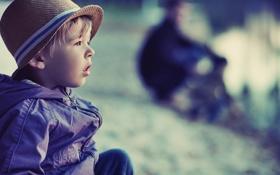 Обои грусть, детство, одиночество, ребенок, шляпа, sad, hat