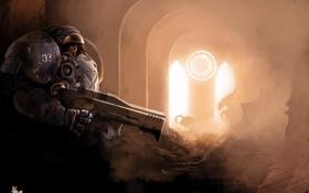 Обои оружие, яркий свет, арки, десант, Starcraft, зерги, силовая броня