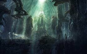 Обои затерянный, by radojavor, prometheus chamber, фантастика, мир