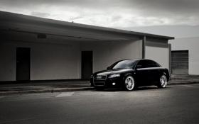 Обои Audi, ауди, чёрная, black