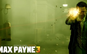 Обои Пистолет, Стрельба, Max Payne 3, Макс Пэйн, Rockstar Games