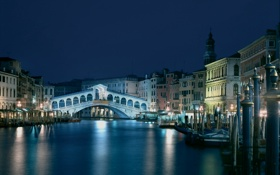 Обои city, город, lights, Италия, Венеция, канал, Italy