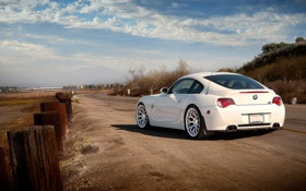 Картинка бмв, BMW, белая, white, Z4M