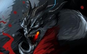 Обои чудовище, art, Krampus, folklore