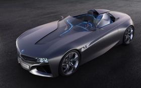 Обои концепт, connected drive, vision, bmw, автомобиль, concept, синяя