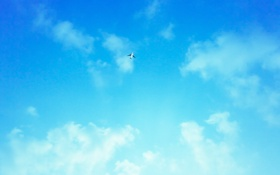 Обои небо, облака, обои, пейзажи, фотографии, самолёты