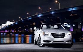 Обои фото, 200 convertible, ночь, авто обои, огни, машины, Chrysler