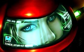 Обои взгляд, шлем, Samus Aran, Metroid