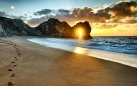 Картинка вода, солнце, Пляж