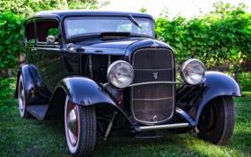 Обои Ford, передок, классика, 1932