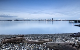 Обои город, побережье, панорама, Seattle