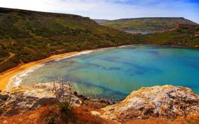 Обои пейзаж, побережье, природа, горы, Мальта, море