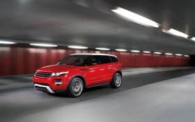 Картинка Красный, Машина, Движение, Land Rover, Range Rover, Car, Автомобиль