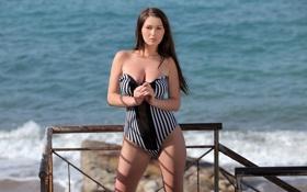 Картинка look, swimsuit, sexy, model, Corinne, pose