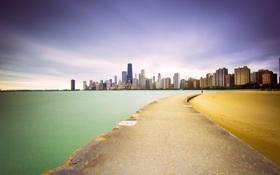 Картинка пейзаж, небоскребы, Чикаго, USA, Chicago, мегаполис, illinois