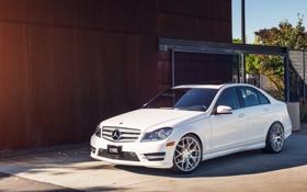 Картинка белый, Mercedes, white, мерседес, benz, c250, c-class