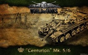 Обои танк, Великобритания, танки, WoT, World of Tanks, Centurion MK. 5/6