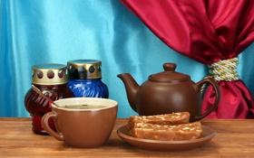 Картинка чай, чашка, напиток, блюдце, щаварник, сласть