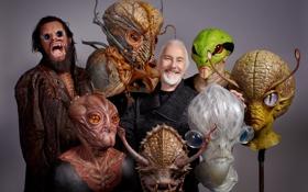 Картинка фантастика, кино, монстры, пришельцы, персонажи, ужасы, дизайнер