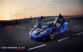 Картинка закат, спорт, автомобиль, McLaren MP4, Gemballa, GT3, макларен