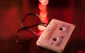 Обои wallpaper, кассета, пленка, любовь, widescreen, фон, настроения