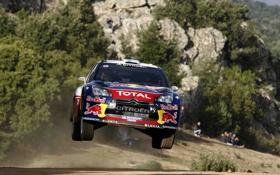 Обои Citroen, Автомобиль, DS3, WRC, Rally, В Воздухе, Летит