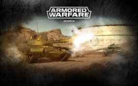 Обои игра, выстрел, танки, tanks, mail.ru, Armored Warfare, Obsidian Entertainment