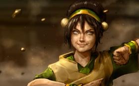 Картинка Avatar, anime, Toph Beifong, earthbending master