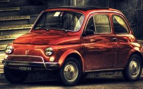 Картинка красный, hdr, 500, Fiat