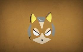 Картинка минимализм, blo0p, Star Fox