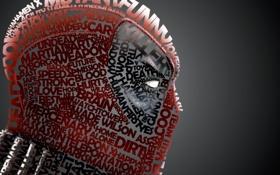 Обои надписи, игра, маска, арт, профиль, typography, Deadpool