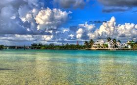 Обои вода, облака, Флорида, Florida, Jupiter
