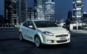 Картинка 2013, фото, Bravo, Fiat, город, автомобиль, белый