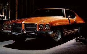 Обои 1971, полумрак, Coupe, Pontiac, Понтиак, Muscle car, Hardtop