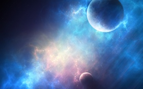 Обои свет, планеты, m83