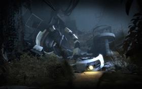 Обои разруха, Portal 2, GLaDOS, Портал 2, Глэдос