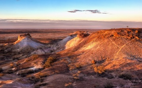 Обои песок, солнце, свет, закат, пустыня, холм