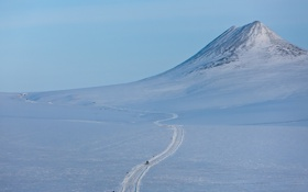 Обои зима, снег, пейзаж, гора, Чукотка