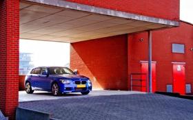 Картинка машина, синяя, BMW F20 - 118i, Sport Packet