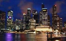 Картинка ночь, супер, ночной сингапур