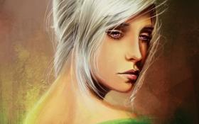 Картинка грусть, девушка, арт, белые волосы
