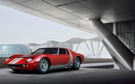 Обои Lamborghini, red, front, Miura, Aksyonov Nikita Andreevich