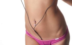 Картинка провода, трусики, пирсинг, живот, розовые