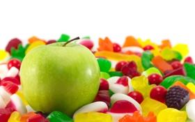 Обои фон, обои, яблоко, еда, wallpaper, зеленое, широкоформатные