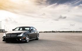 Обои чёрный, Mercedes-Benz, C219, black, мерседес, AMG, самолёты