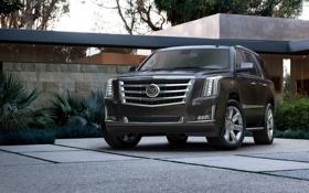 Обои фон, чёрный, джип, внедорожник, передок, Кадиллак Эскалейд, Cadillac Escalade