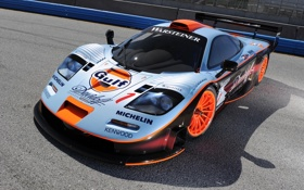 Обои фон, McLaren, GTR, суперкар, болид, передок, гоночный