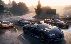 Обои Most Wanted, race, Pagani, Need for speed, supercars, Bugatti, 2012