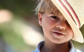 Обои мальчик, ребёнок, шляпа